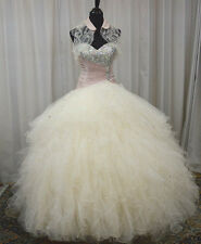 NEW Vizcaya by Mori Lee Quinceanera Sweet 16 Dress 88075 Champagne/Blush Size 10