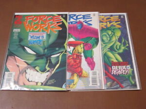 FORCE WORKS #18 19 20 VF+ COMPLETE SET WEST COAST AVENGERS SCARLET WITCH HAWKEYE