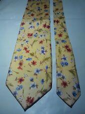 Princeps Alexander Men's Vintage Silk Tie in Yellow with a Floral Pattern NWOT