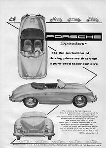 """1955 Porsche 356 A Speedster """"Perfection"""" Original Ad"""