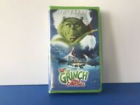 Dr. Seuss How the Grinch Stole Christmas VHS Jim Carrey Movie Clamshell VHS VCR