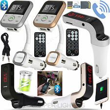 Wireless Bluetooth 4.2 Car Kit FM Radio Transmitter LCD MP3 Player USB Charger
