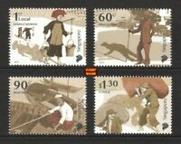 Singapore 2018 Early Trades Sikh Guard Boatman Coolie Boat stamp set 4v MNH
