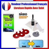 Sikeo® Kit Réparation Résine + Injecteur Pour Éclat Pare-Brise Verre Fissuré