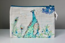 Stunning Peacock Design Vintage Cosmetic / Make up Purse by Heaven Sends