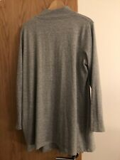 Grey marl fitted thin jersey knit polo neck jumper size 20
