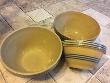 Antique stoneware mixing bowls