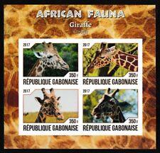 Giraffe Africano Fauna Nuovo senza Linguella Imperf. Souvenir Foglio