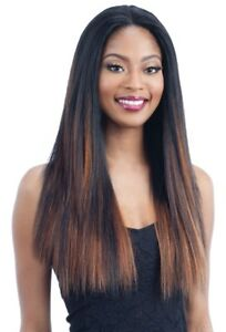 HARMONY 114 - MILKYWAY HUMAN HAIR BLEND LACE FRONT WIG LONG STRAIGHT