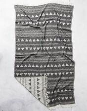 RESIM Tassel Bath Towel Black/White 100% Turkish Cotton Made in Turkey