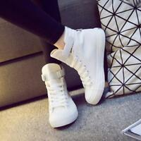 Women High Top Sport Casual Flat Canvas Shoes Girls Student Fashion Sneaker Yooo