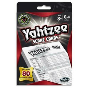 Hasbro Yahtzee Pack Of 80 Game Score Cards Pads