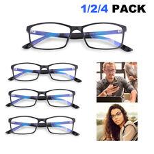 1-4x Blue Light Blocking Glasses Gamer LCD/LED Screen & Computer Eyewear