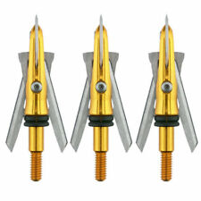 """New Rage Ss 85 Broadhead 85gr Grain 1.5""""+ Cut 3 Pack w/Free Practice Head R44200"""
