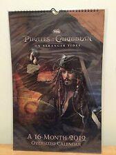 Calendar Pirates Of The Caribbean On Stranger Tides 2012 Oversized 16M Disney