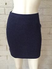 Cotton On Mini Skirt Blue Cotton Knit Stretch Size Small