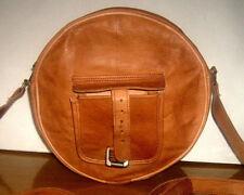 Leather Messenger Brown Bag Handmade Purse Cross Body Bag  For Women