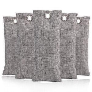 2-20Pk Bamboo Charcoal Air Purifying Bag Home Closet Freshener Odor Absorber