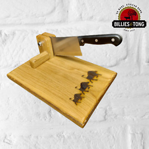 Personalised African Animal Oak Wood Cutting Chopping Board Biltong Kitchen Gift