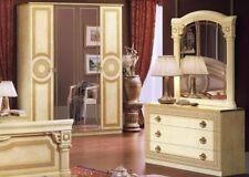 Klassisch  Kleiderschrank Schlafzimmer Schrank Drehtüren Beige Hochglanz Italy