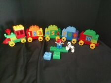 LEGO DUPLO NUMBER TRAIN BONUS CAR AND ROOF INCLUDED SANITIZED 10558 COMPLETE 60A