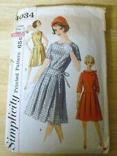Vintage Simplicity #4034 Dress Pattern Junior Misses,Size 11