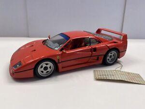 Franklin Mint 1989 Ferrari F-40 Red 1:24 Scale Diecast Metal Model Sports Car