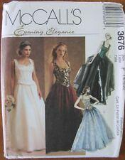 MCCALL'S EVENING ELEGANCE DRESS PATTERN # 3676, SIZE 16-20, UNCUT, 2002