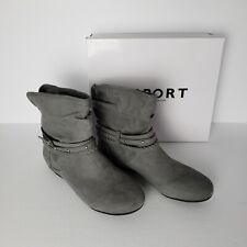 Report Womens Elson Closed Toe Grey Ankle Fashion Boots 10 M NEW