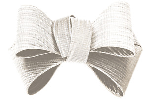 Shoelery Textured White Triple Bow (pair) - Shoe Clips by Erica Giuliani