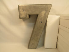 Extra Large 3D House Building Number 7 Industrial Architectural Metal 14 Inches