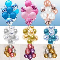 "10pcs 12"" Chrome Shiny Metallic Balloons Bouquet Birthday Party Wedding Decor"
