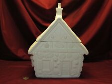 Ceramic Bisque Gingerbread House Cookie Jar Ready to Paint U-Paint Unpainted