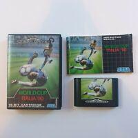 World Cup Italia '90 Sega Mega Drive Classic football game with manual