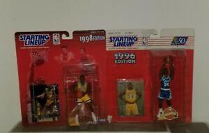 Starting Lineup Lot 1998 Kobe Bryant 1996 Shaquille O'Neal Lakers SLU
