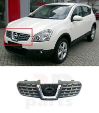 FOR NISSAN QASHQAI 2007-2010 NEW FRONT BUMPER CENTER GRILL WITH CHROME TRIM
