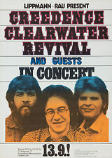 "Creedance Clearwater Revival German 16"" x 12"" Photo Repro Concert Poster"