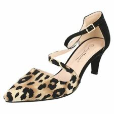 Buckle Animal Print Heels for Women