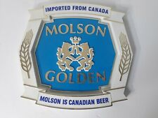 Vintage Molson Golden Canadian Beer Wall Advertising Logo Bar Sign