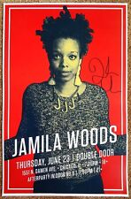 Signed JAMILA WOODS Gig POSTER In-Person w/proof Chicago Illinois Autograph