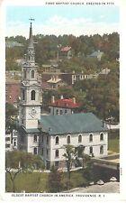 1920's The Oldest Baptist Church in America in Providence, RI Rhode Island PC