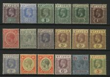 St Lucia Collection 18 KEVII / KGV Stamps Mounted Mint + Unused
