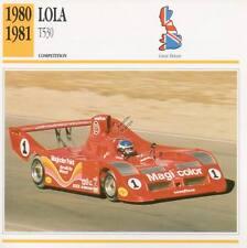 1980-1981 LOLA T530 Racing Classic Car Photo/Info Maxi Card