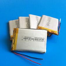 5 pcs 3.7V 1700mAh Li Po Battery 554060 For MID Camera Recorder GPS Cell Phone