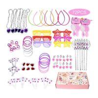 Princess Pretend Jewelry Toy Girl Jewelry Dress Up Play Set 72pcs FD18