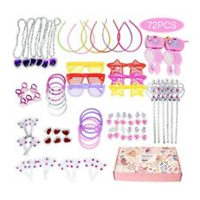Princess Pretend Jewelry Toy Girl Jewelry Dress Up Play Set 72pcs FD18