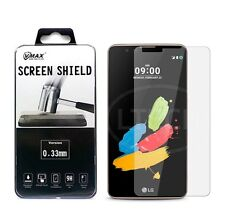 LG Stylo 2 LS775 Stylus 2 Vmax Tempered Glass Screen Protector Retail Pack New