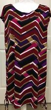 Jones Studio size 2X purple black maroon sleeveless geometric dress women's