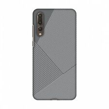 AMZER Carbon Fibre Stone Gray 1 Hard Plastic Cover Slim Printed Snap On Case