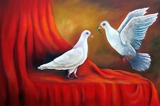 """On Sale! Cuban Art """"Love is in the air"""" Oil painting 18""""x 12"""" Signed by Artist."""